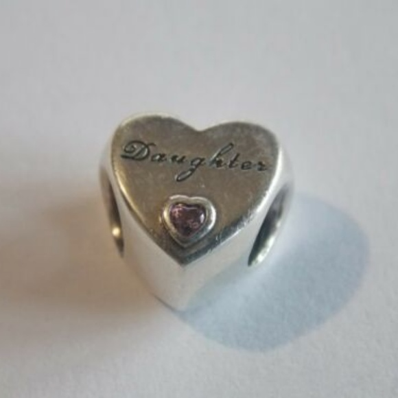 74fc38d8a pandora Jewelry | Sterling Silver Daughter Charms Cz | Poshmark